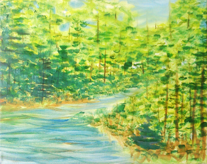 River's Impressions. Oil on canvas. 11x14.
