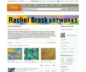 Rachel Brask Artworks at Etsy Online Shop