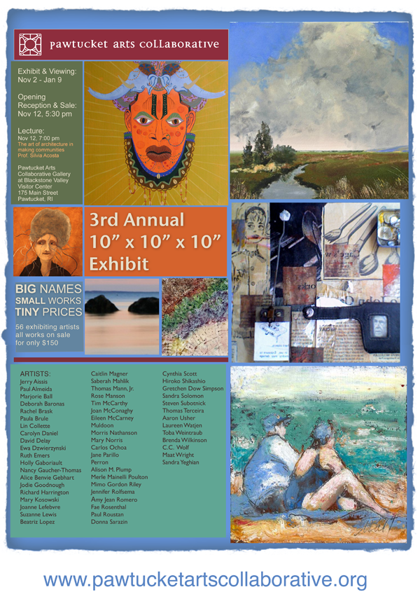 All the information you need about the 10x10x10 Exhibition happening on November 12 @ 5:30pm