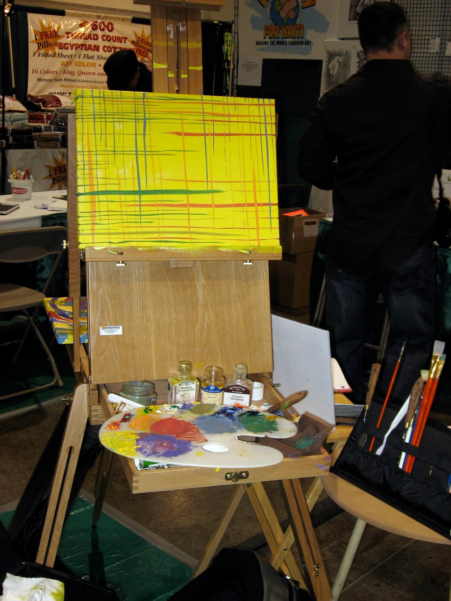 Painting #2 in Progress on Easel
