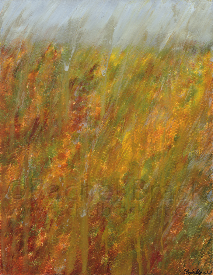 Autumn Rain. Oil on canvas. 11″ x 14″