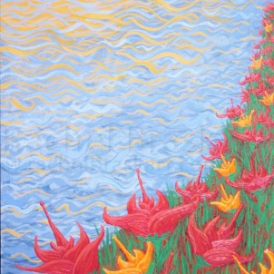 Tranquility of the Sun, dyptych. Oil on canvas. 20″ x 24″ (2 of 2)