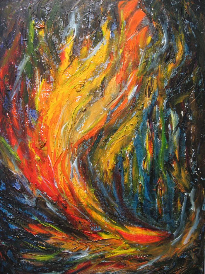 Windfire. Oil on canvas. 11x14.