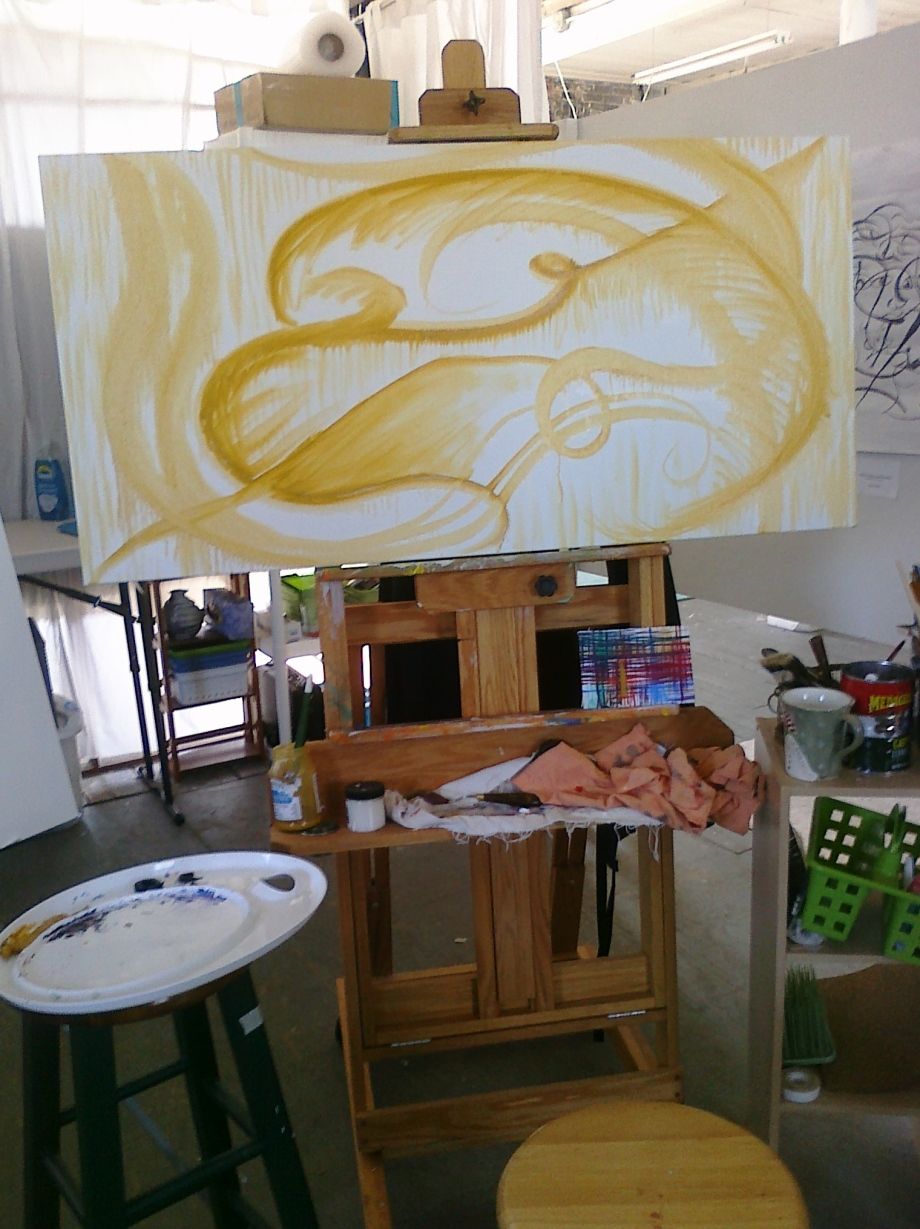 Phase I of Abstract Painting Process