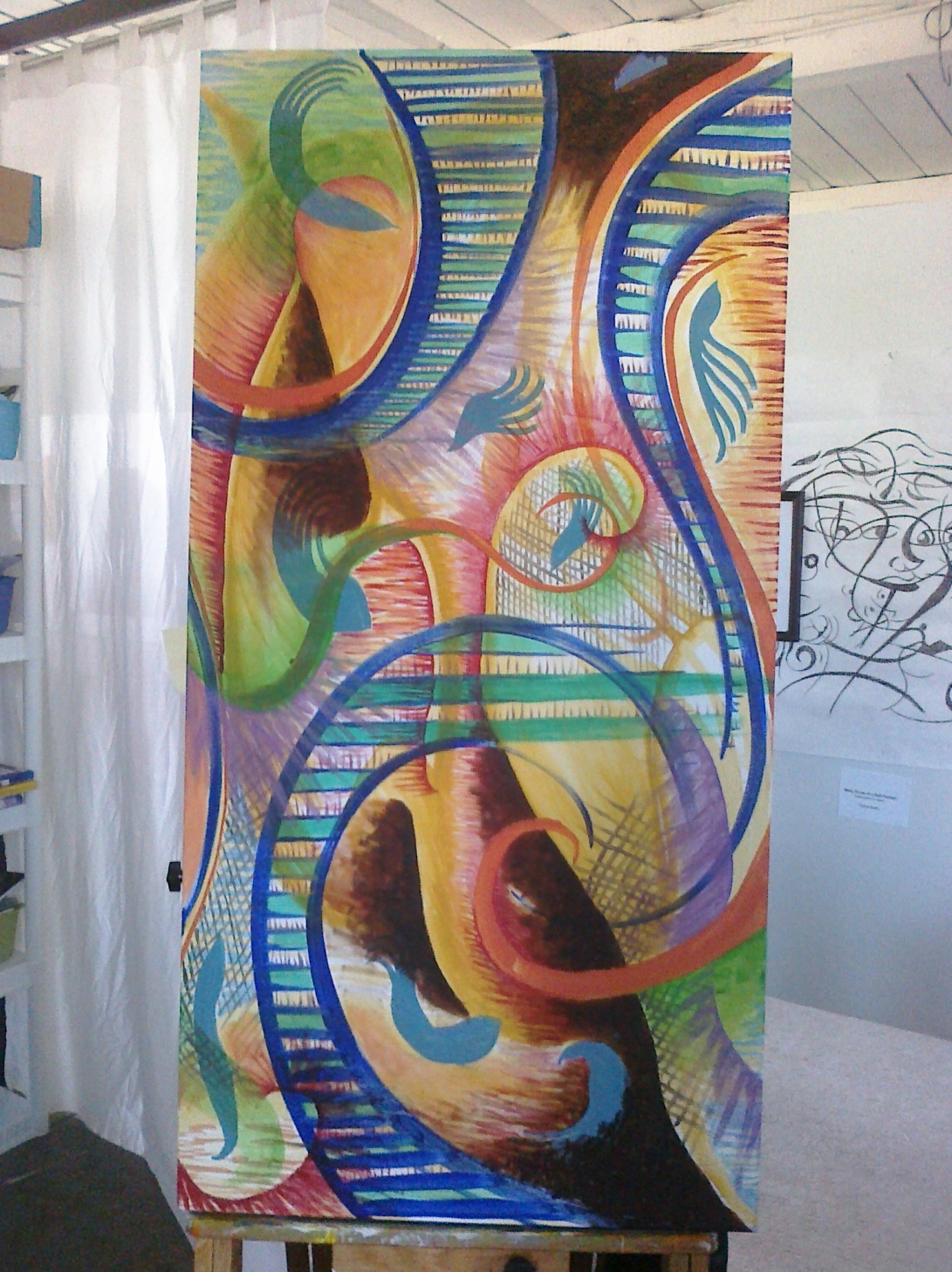 Phase 10 of Abstract Painting Process