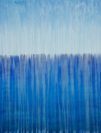 "©Rachel Brask, Rainy Moment 13 (Open Ocean Rain). Oil on canvas. 40""x30""."