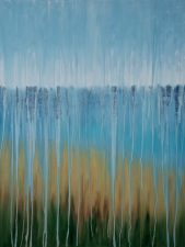 "[SOLD] Rainy Moment 07 (Beach Dreams) by Rachel Brask, oil on canvas, 40""x30"""