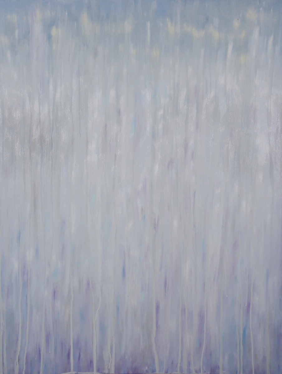 "©Rachel Brask, Rainy Moment 02 (Winter Rain). Oil on canvas, 40""x30"""