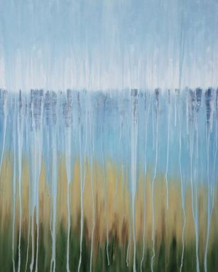 "[SOLD[ Rainy Moment 07 (Beach Dreams). Oil on canvas. 40""x30"""