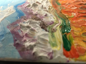 Students create paintings inspired by VanGogh's textured impasto