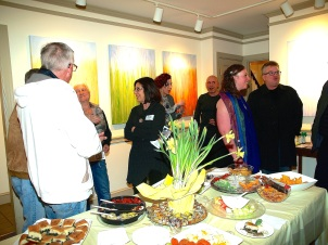 Abstracted Rainy Moments by Rachel Brask Solo Exhibition Opening Reception
