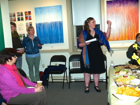 Artist Rachel Brask gives a talk about her artwork