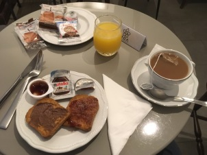 Typical Roman breakfast, I'm told (except usually coffee instead of tea)