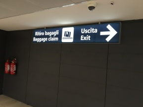 It's getting real -- I'm in Italy! Signs in Italian!