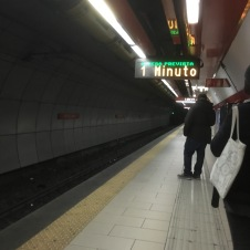 Catching my first metro in Rome