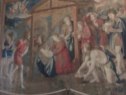 Wall tapestries from middle ages
