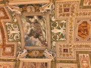 One of many ceiling frescos in the Vatican Museum
