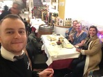 Our waiter snuck in a selfie when we asked him to take our photo