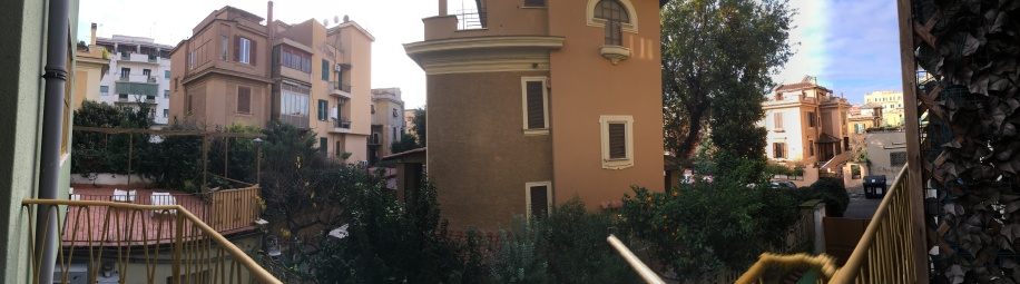 Pano of balcony view