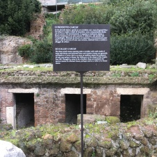 "The presumed ""jail"" of this Roman center"