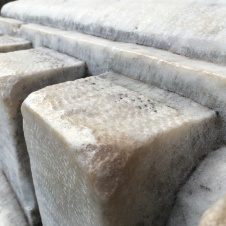 If you look closely at some of the marble and stone, you can see the grooves of how it was carved