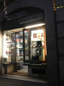 An art supply shop in Rome