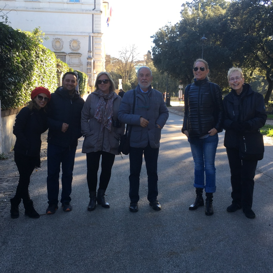 Our fantastic group of artists out for a walk just before a few had to leave to catch a plane back to the USA