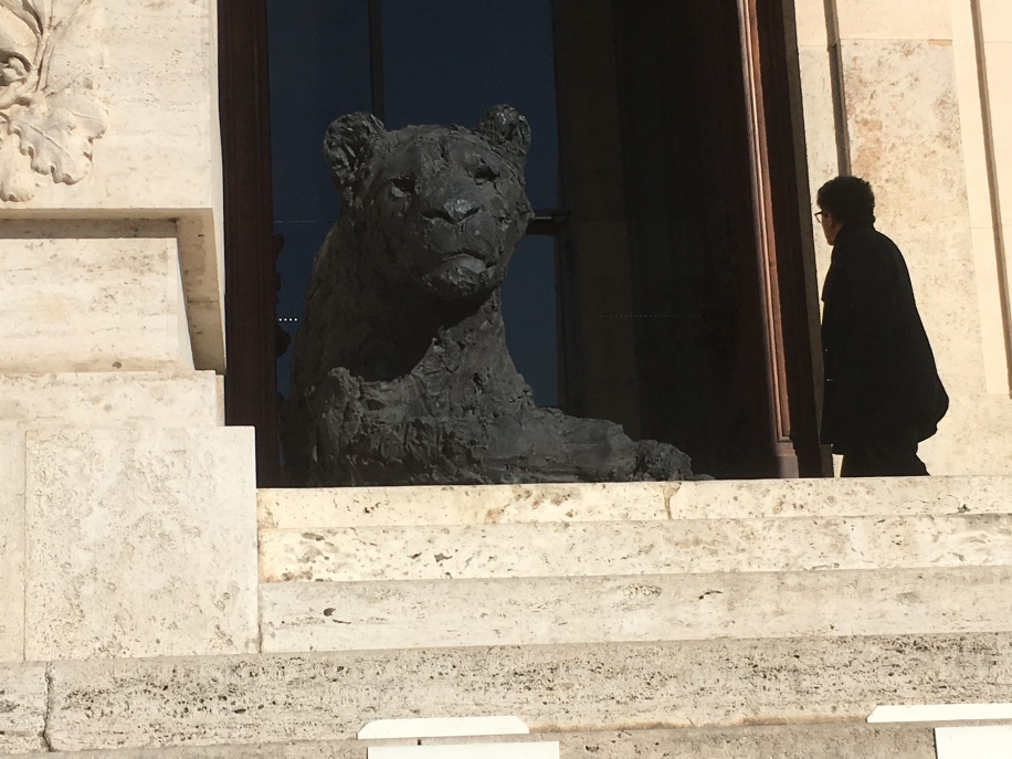 The large bronze lions
