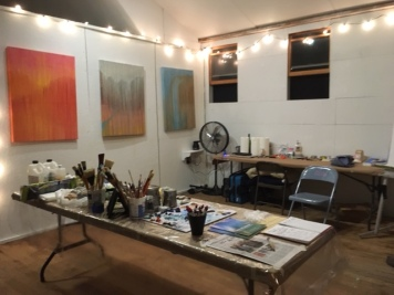 BEFORE: Last night's open studio