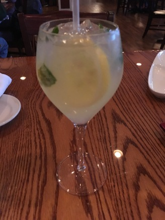 Proseccoo with light limoncello and basil
