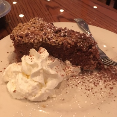 This is the Nutella cheesecake, full of hazelnuts