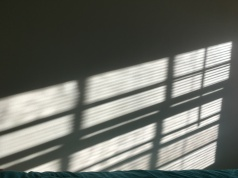 Light on the wall in morning