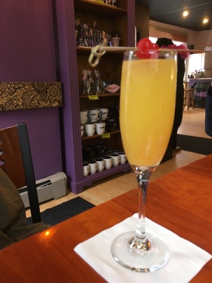 Morning mimosa, first brunch