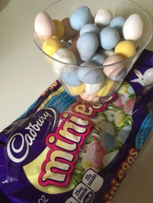This has nothing to do with my painting process; today was Easter so I got some Cadbury mini-eggs for the house