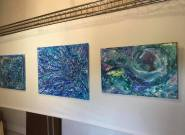 Some swirly cosmic abstracts by LA artist Sheryl Benjy