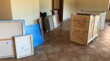 Some paintings unloaded