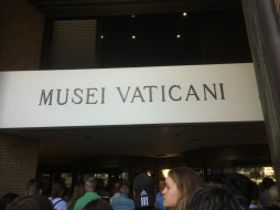 In line at the Vatican Museum