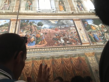 "Sistine Chapel Wall (note the ""curtains"")"
