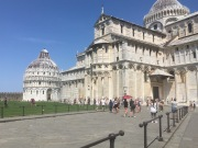 The Leaning Tower of Pisa is part of a cathedral complex