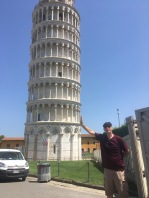 """The one where my dad is """"holding up"""" the Leaning Tower of Pisa"""