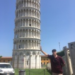 "The one where my dad is ""holding up"" the Leaning Tower of Pisa"