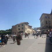 Some poor individual's face is flying free in Pisa, beware!