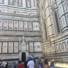 I never tire of observing all the ornamentation of the Duomo