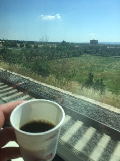 Coffee on trainride, much better
