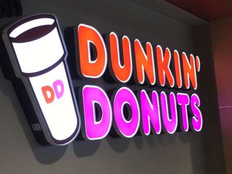 I officially knew that I was back home in New England when I saw the Dunkin Donuts sign